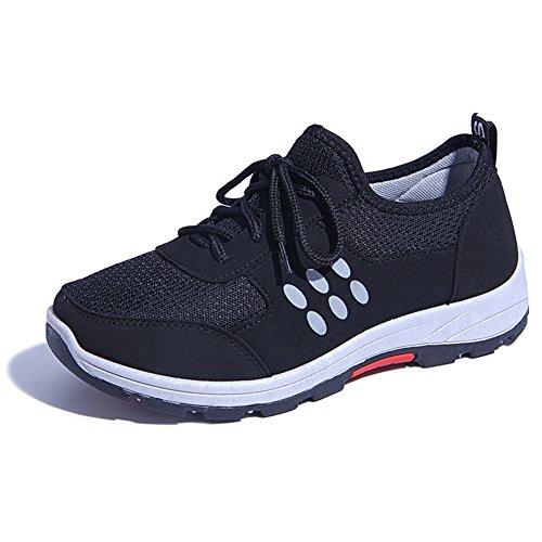 Cybling Scarpe Da Trekking Da Trekking Leggere Per Le Donne Scarpe Da Ginnastica Casual Appartamenti Moda Sneakers Suola Morbida Nero