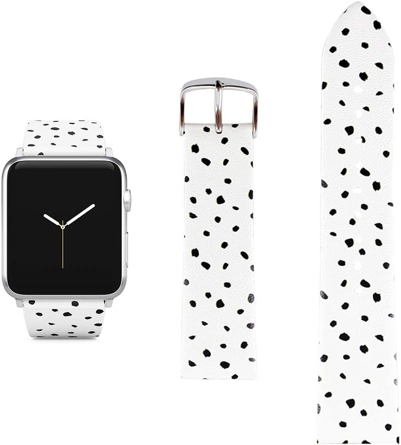 Polka Dots Replacement Band Compatible iWatch 38mm/40mm Pastel Bay Wrist Band PU Leather Strap Compatible Apple Watch Smartwatch Series 4 3 2 1 Version