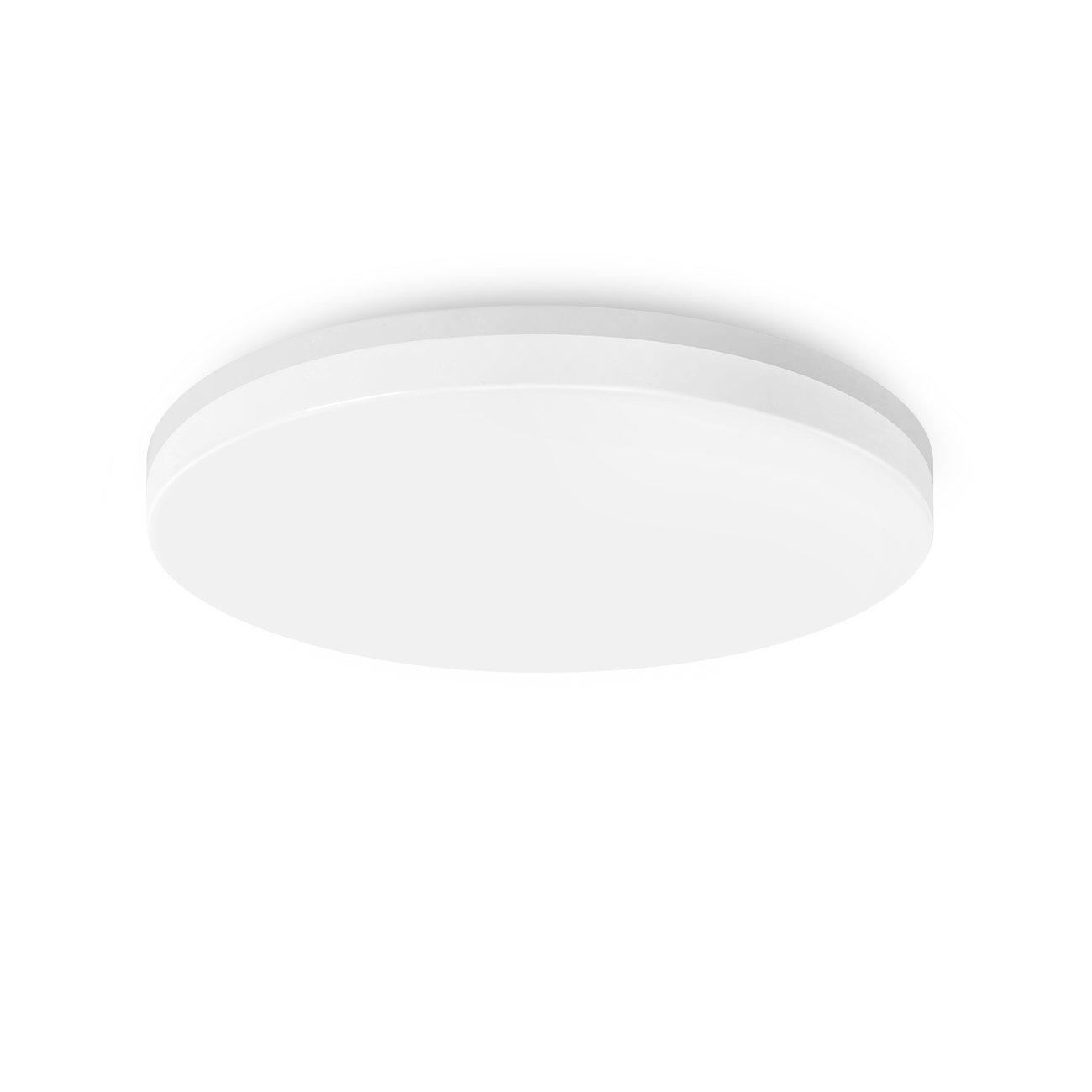 LVWIT Lámpara de Techo LED - 18W, Plafón LED de 1400 lúmenes, Color blanco neutro 4000K, No regulable - oficina salón. [Clase de eficiencia energética A++]