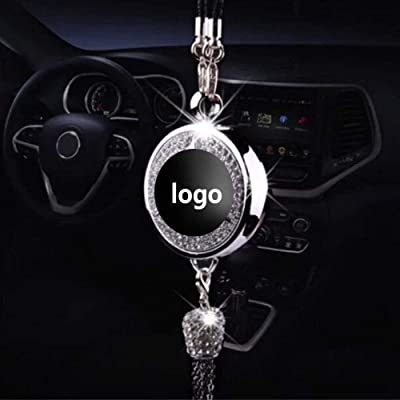 Fitracker Car logo Perfume Air Freshener Rearview Mirror Perfume Pendant With Gift Box: Automotive