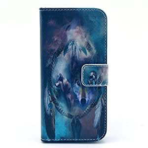 LUOLNH (TM) - iPhone 6 (5.5 inch)Protective Case, Magnetic Flip Stand Card Holder Wallet PU Leather Case Pouch Cover (Wolf) by supermalls