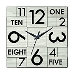 Ashton Sutton HOC022 QA Square Wall Clock, 22-Inch