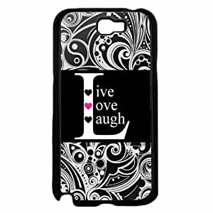 Black Live Love Laugh Plastic Phone Case Back Cover Samsung Galaxy Note II 2 N7100