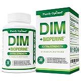 Premium DIM Supplement 250mg Plus BioPerine - Dual Estrogen Balance, Menopause Relief