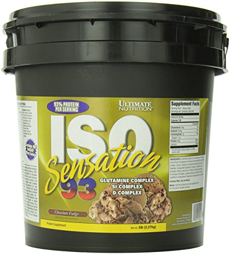 Ultimate Nutrition Sensation 93 ISO 100% Protein Powder Whey Isolate (Chocolate Fudge,5 Pounds) ()