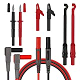 Neoteck Automotive Test Lead Kit Wire-Piercing Clip Test Probe Puncture Wire Break Signal with 4mm Banana seat (Set of 8)