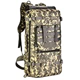 Huntvp Tactical Military MOLLE Assault Backpack Pack 3 Way Modular Attachments 50L Large Waterproof Bag Rucksack Outdoor Gear For Hunting Cycling Camping Trekking