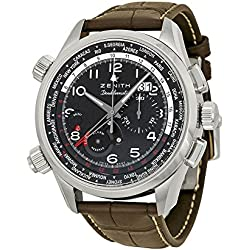 Zenith Pilot Automatic Chronograph Black Dial Mens Watch 03.2400.4046/21.C721