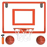 Mini Basketball Hoop XL for Door - 23 x 18 Inch Bedroom Basketball Hoop Indoors Set