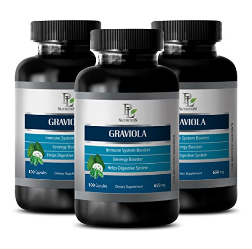 Soursop pills – GRAVIOLA EXTRACT 650 Mg – Pancreas care – 3 Bottles 300 Capsules