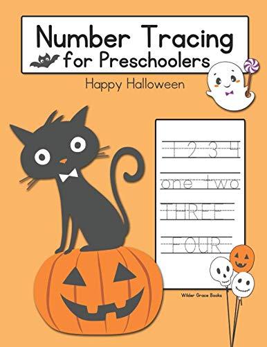 Number Tracing for Preschoolers: Happy Halloween]()