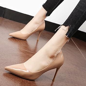 Xue Qiqi Corte los zapatos Solo zapatos de punta mujeres desnudas de luz el  color de 58a9b9616f95