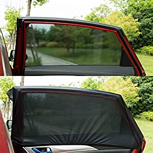 Universal Fit Car Side Window Baby Sun Shade,Premium Breathable Mesh Sun Shield protect Baby/Pet from Sun's Glare & Harmful UV Rays,Fit For Cars,Most SUV