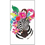 Paperproducts Design PPD 1412748 Flora Zebra Guest Towels/Paper Napkins, 5'' x 8'', Multicolor