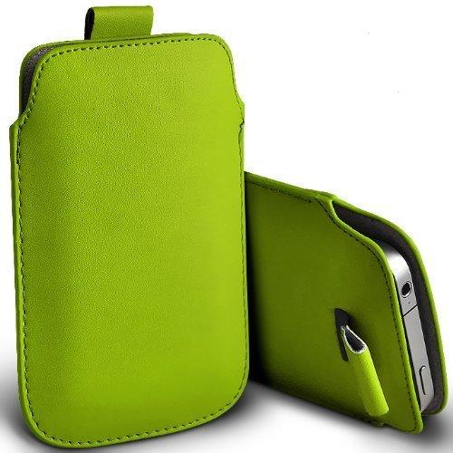 C63–Apple iPhone 5Premium morbido PU Tab custodia flip–verde