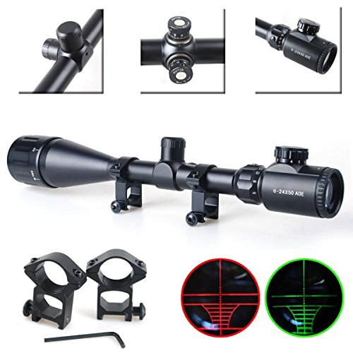 Twod-Rifle-Scope-Tactical-6-24X50mm-AOEG-Optics-Hunting-Rifle-Scope-RedGreen-Illuminated-Crosshair-Gun-Scope-Scope-Covers-Free-Mounts