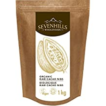 Sevenhills Wholefoods Organic Raw Cacao / Cocoa Nibs 1 kg / Biologique Raw Cacao NIBS, Soil Association certified organic
