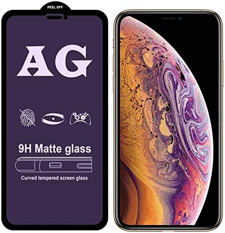 DESHENG Clear Screen Protector 25 PCS AG Matte Anti Blue Light Full Cover Tempered Glass for iPhone Xs//X Glass Film