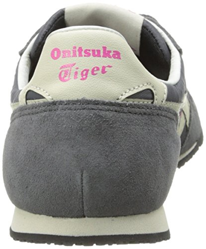 Onitsuka Tiger Femmes Serrano Mode Sneaker Gris Foncé / Blanc Cassé