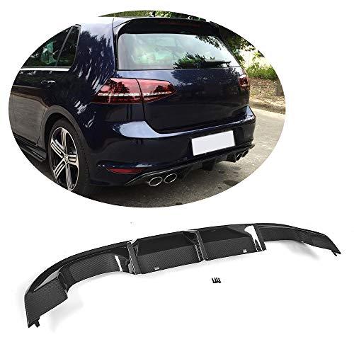 (MCARCAR KIT For Volkswagen VW GOLF 7 VII MK7 R R-LINE 2014-2016 Customized CNC Moulding Carbon Fiber Rear Bumper Diffuser Lower Lip Spoiler Kit)
