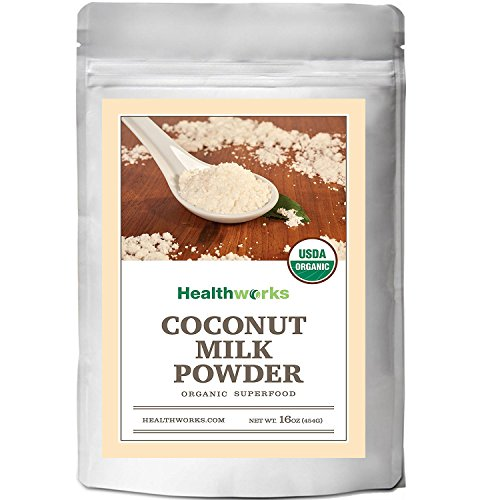 Healthworks Coconut Milk Powder Organic (Dairy Free), 1lb (Organic Milk Coconut Powder)