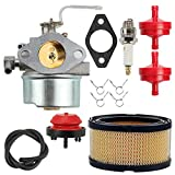 Wellsking HM100 Carburetor for Tecumseh 640152A 640023 640051 640140 640152 640260B HM80 HM90 8-10 HP Engines Snowblower Craftsman Mower Coleman 5000w Generator +Tune Up Kits