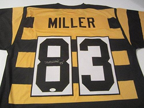 Autographed Heath Miller Jersey - Throwback COA - JSA Certified - Autographed NFL Jerseys ()