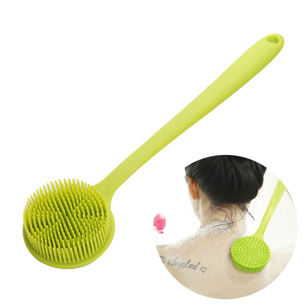 Funwill Silicone Bath Body Brush, Cleaning Shower Back Scrubber with Ultra-soft Bristles and Long Handle, Remove Dead Skin and Toxins,Cellulite Treatment,Exfoliating,Cellulite Massager 14.8