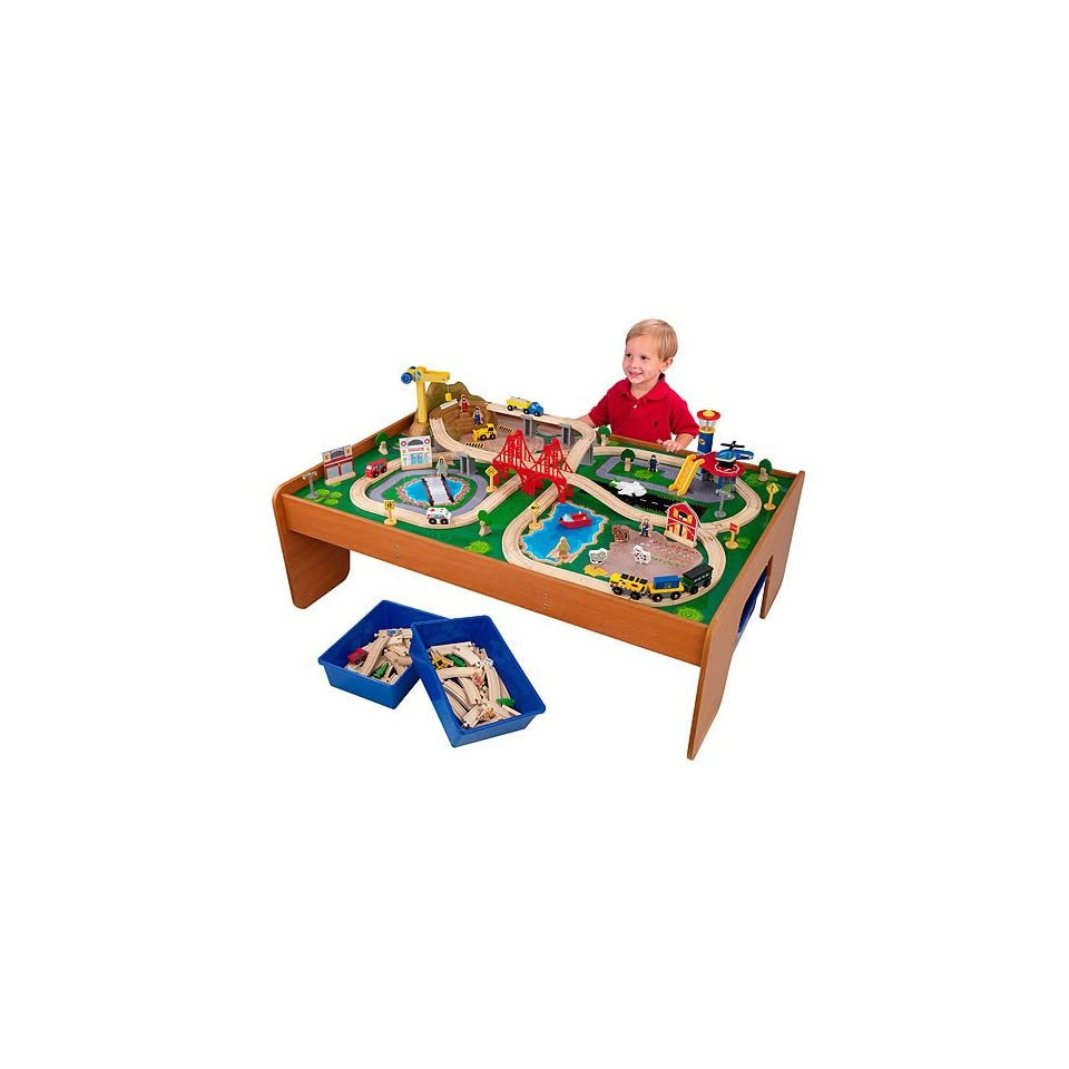 Kidkraft Childrens Toy Large Ride Around Town Train Table Play Set