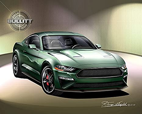 Poster Measures 23.5 x 16.5 Inches Laminated Steve McQueen Pop Art Mustang Bullitt 59.4 x 42 cm Approx.