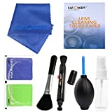 DLSR Cleaning Kit, K&F Concept 7in1 Include Cleaning Pen + Air Blower + Lens Cleaning Tissue Paper + Microfiber Lens Cleaning Cloth + Spray Bottle + Dry wipe + Brush