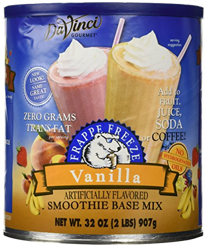 Vanilla Smoothie Base - 32 oz DaVinci Frappe Freeze Vanilla Smoothie Base Mix, Add to Fruit, Juice, Soda, or Coffee