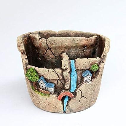 Amazon.com: Maceta de cemento – Mini maceta suculenta para ...