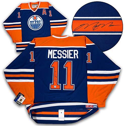 Mark Messier Edmonton Oilers Autographed Retro Ccm Authentic Hockey Jersey