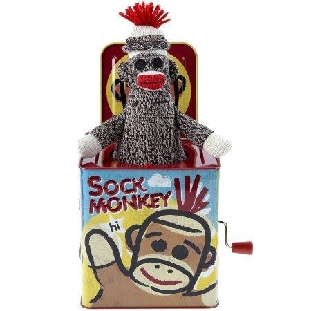 Schylling 117060 Jack In The Box - Sock Monkey