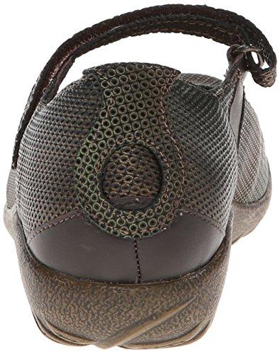 Naot Womens Reka Mary Jane Flat Rattlesnake Bruin / French Roast