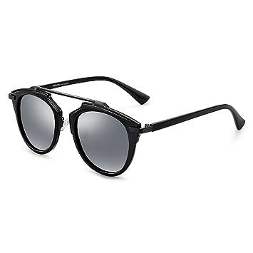 Sunglasses QDA Gafas de Sol Moda Crossbeam Retro Gafas de ...