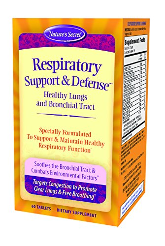 Respiratory Support and Defense by Nature s Secret Supports Healthy Lungs and Bronchial Tract, 60 Tablets Pack of 3