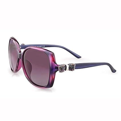 WX xin Mariposa Nudo Gafas De Sol Hembra Luz Polarizada Personalidad Cara Redonda Grande Caja Gafas