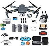 DJI Mavic Pro Drone - Quadcopter - Fly More Combo - with 3 Batteries - 4K Professional Camera Gimbal - Bundle Kit - with Must Have Accessories