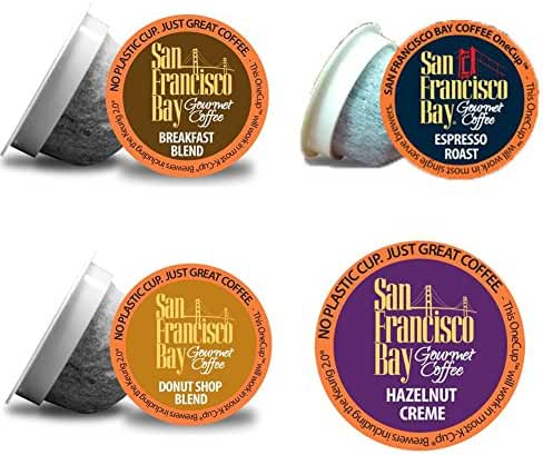 San Francisco Bay New Variety Pack 80 count - Donut Shop, Hazelnut, Breakfast Blend and Espresso