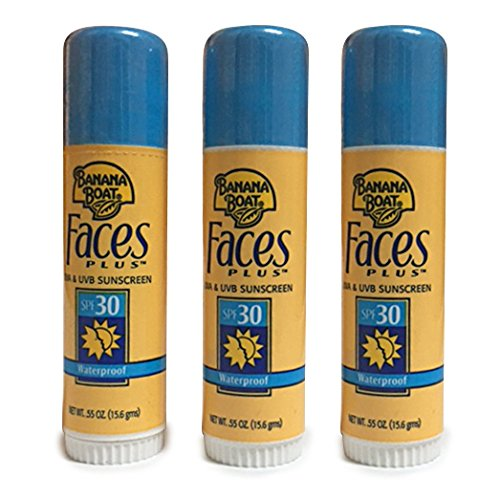 - Banana Boat Faces UVA UVB Waterproof Sunscreen SPF 30 (3Pack)