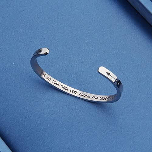 ENSIANTH Friendship Gifts Best Friends Hidden Message Cuff Bracelet Bridesmaid Jewelry Gift for Sister