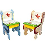 Fantasy Fields - Dinosaur Kingdom Thematic Kids Wooden 2 Chairs Set |Imagination Inspiring Hand Crafted & Hand Painted Details   Non-Toxic, Lead Free Water-based Paint