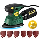 TECCPO Compact Mouse Detail Sander with 12Pcs