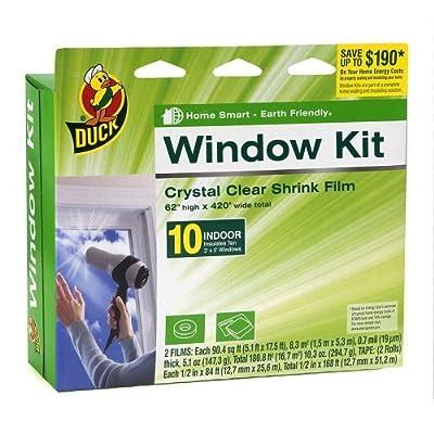 2 Pack of Duck Brand 281506 Indoor 10-Window Shrink Film Insulator Kit, 62-Inch by 420-Inch