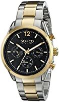"""SO&CO New York Men's 5004.4 """"Monticello"""" Stainless Steel Two-Tone Watch by SO&CO MFG"""