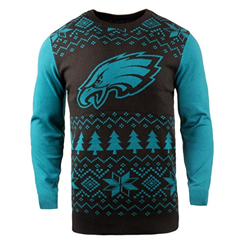 Klew NFL Philadelphia Eagles Two-Tone Cotton Ugly Sweater, -