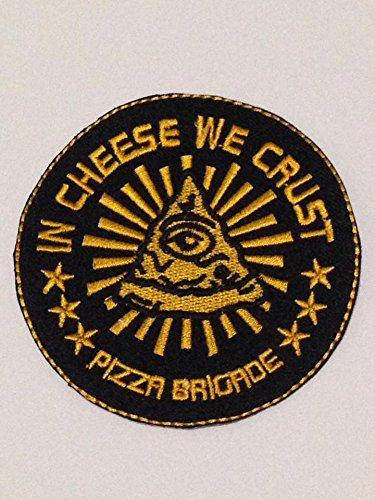 Cheese WE crust size 3 inch.for biker heavy metal Horror Punk Emo Rock DIY Logo Jacket Vest shirt hat blanket backpack T shirt Patch Embroidered Appliques Symbol Badge Cloth Sign Costume Gift