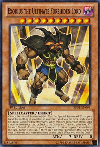 (Yu-Gi-Oh!! - Exodius the Ultimate Forbidden Lord (BP02-EN063) - Battle Pack 2: War of the Giants - 1st Edition - Common)